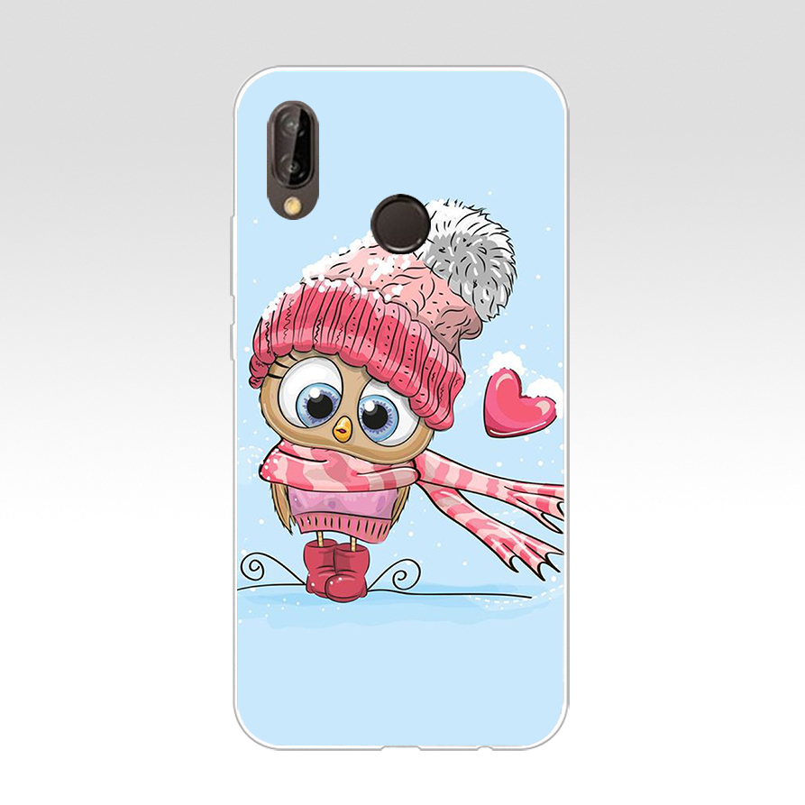 172H Cute Owl Hearts Lover Christmas Soft Silicone Tpu Cover Case For Huawei P 20 Lite Pro Y6 Mate 10 Lite