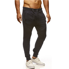 New Brand Men Pants Hip Hop Harem Joggers Male Trousers Casual Mens Solid Pleated Sweatpants Size 3XL