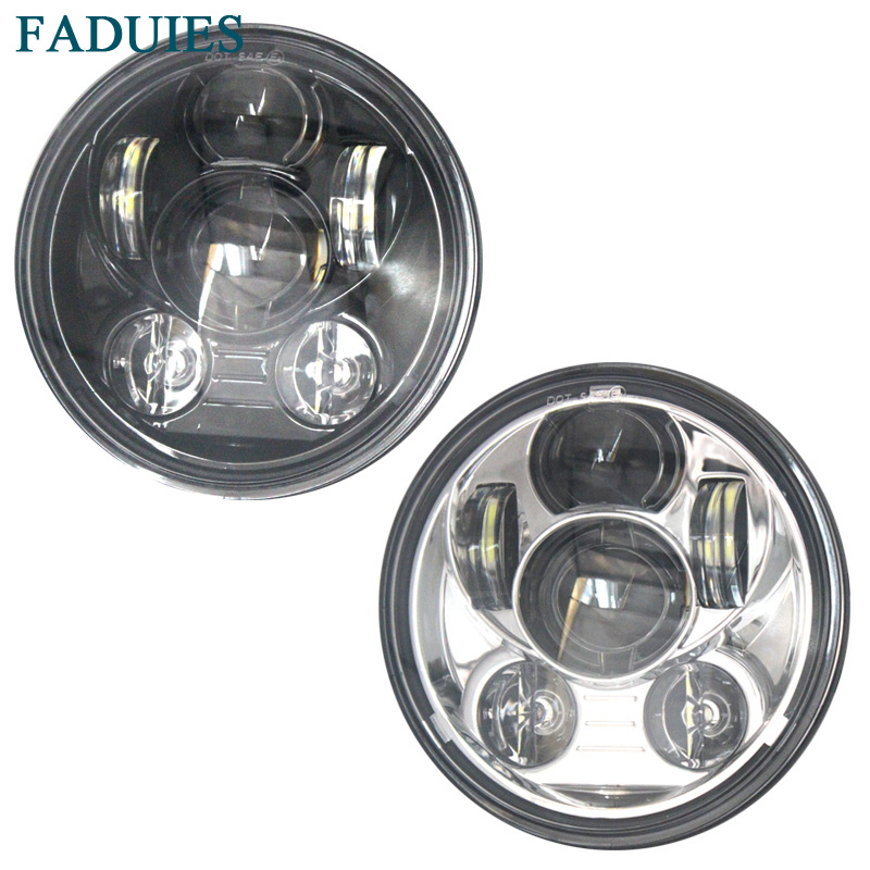 FADUIES 5.75inch led headlight for motorcycle 5 3/4 led headlight for Harley 5 3/4 Motorcycle Black