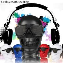 Skeleton Skull Wireless Bluetooth Speaker 15W FM Radio Stereo NFC Column Subwoofer Speakers Portables Super Heavy Bass TF Card(China)