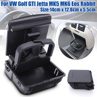 New Central Console Armrest Rear Cup Drink Holder For VW Jetta MK5 5 Golf MK6 6