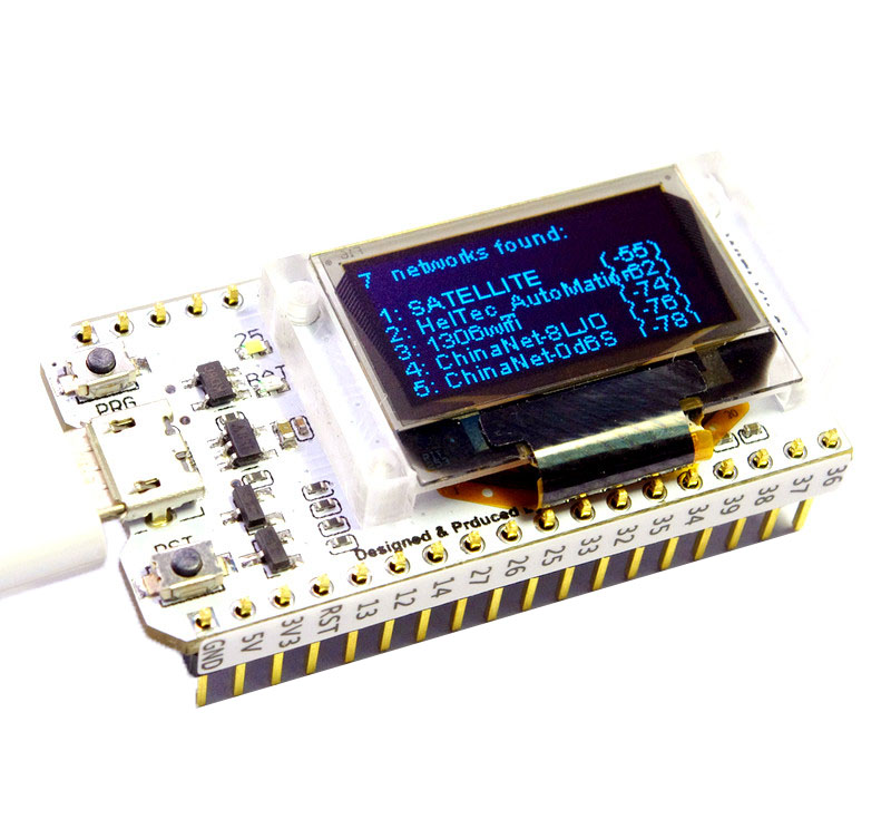 ESP32 Bluetooth WIFI Kit OLED Bleu 0.96 pouce Affichage Module CP2102 32 M Flash 3.3 V-7 V Internet Conseil de développement pour
