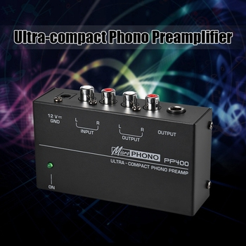 Ultra-Compact Phono Preamp Preamplifier With Rca 1/4Inch Trs Interfaces Preamplificador Preamp(Eu Plug)