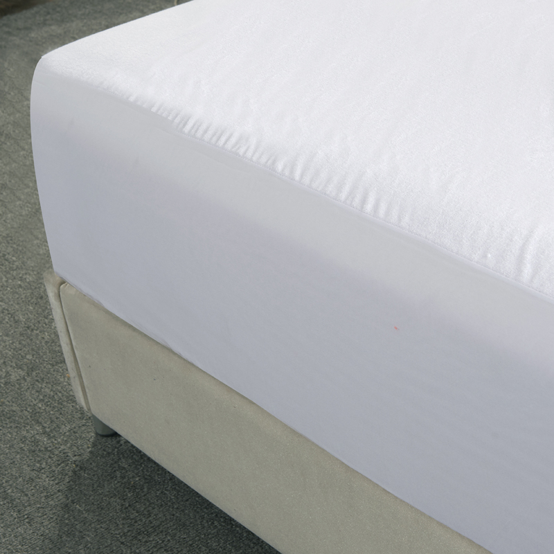 Cotton 1Pc Smooth Waterproof Mattress For Box Spring Mattress Cover Bed Mat BedBug Wetting Proof And Hypoallergenic Fitted Sheet