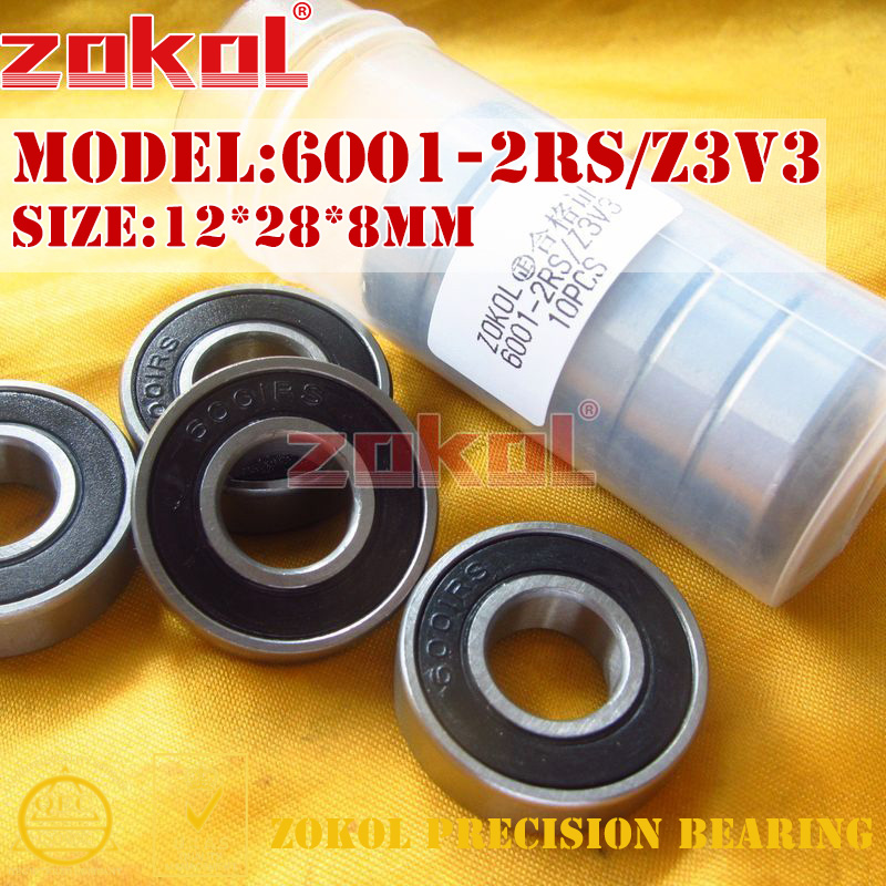 ZOKOL 6001RS bearing 6001 2RS Z3V3 180101 Z3V3 6001-2RS Deep Groove ball bearing 12*28*8mm чайник bosch twk 6001