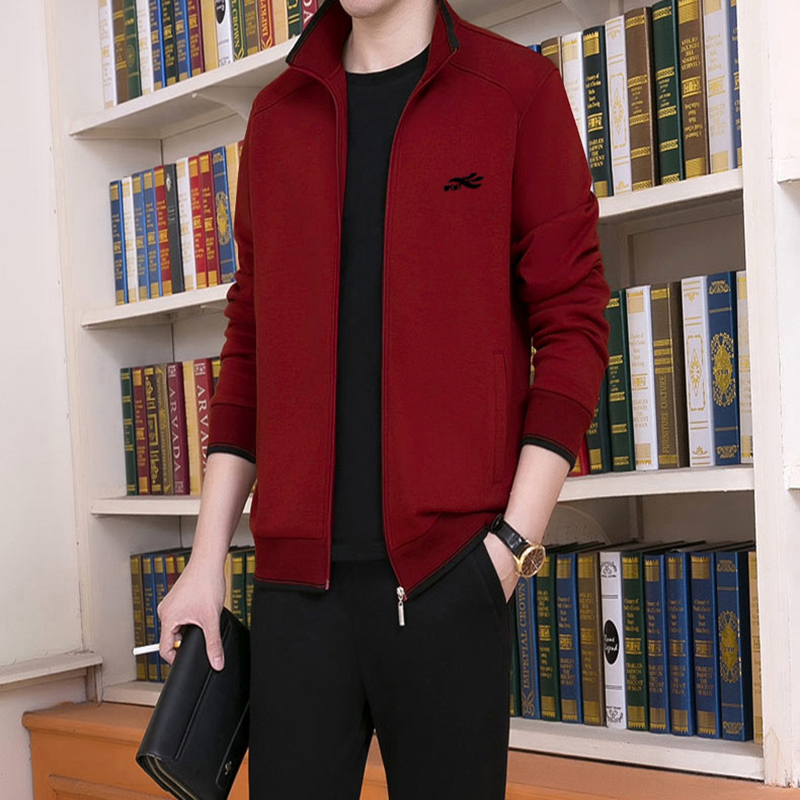 Spring Autumn Middle-aged Sports Suit  Male Sportswear 3 piece Sweater set Tracksuit Sweatshirt Casual Plus Size M-5XL
