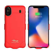 Goldfox High Capacity Battery Case For iPhone X 4000mah/6000mah Portable External Power Bank Rechargeable Battery Case Cover