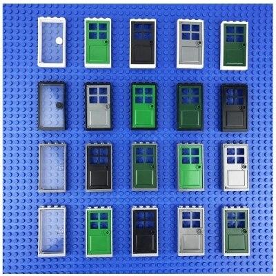 A única Porta E Janelas para Casa Acessórios MOC Modelos Building Block Define Bricks DIY Brinquedos Educativos para Crianças