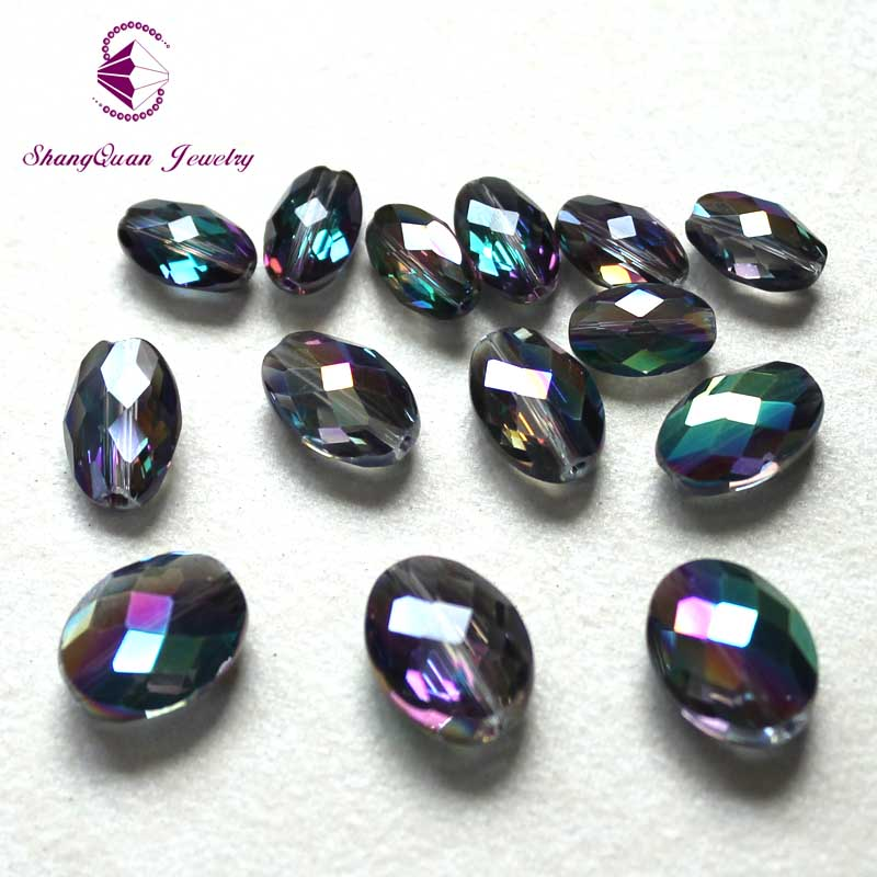 High quality 9x6mm 11x8mm 13x10mm oval shape Austrian crystal beads loose bead glass ball supply bracelet Jewelry SQ3A26GP in Beads from Jewelry Accessories