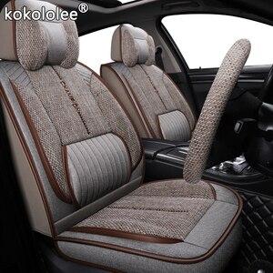 Image 1 - Kokololee funda de tela para asiento de coche, para Toyota rav4 wish Prado hilux mark auris prius camry corolla crown chr Land Cruiser, asientos de coche