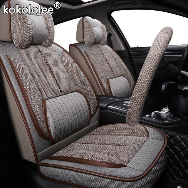 Kokololee funda de tela para asiento de coche, para Toyota rav4 wish Prado hilux mark auris prius camry corolla crown chr Land Cruiser, asientos de coche