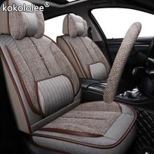 kokololee fabric car seat cover For Toyota rav4 wish Prado hilux mark auris prius camry corolla crown chr Land Cruiser car seats