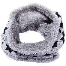 Осень-зима дети шарф дети уплотнительное кольцо Шарфы вязаные плюшевые мальчики девочки ошейниками теплые детские шейный платок детей Bufandas