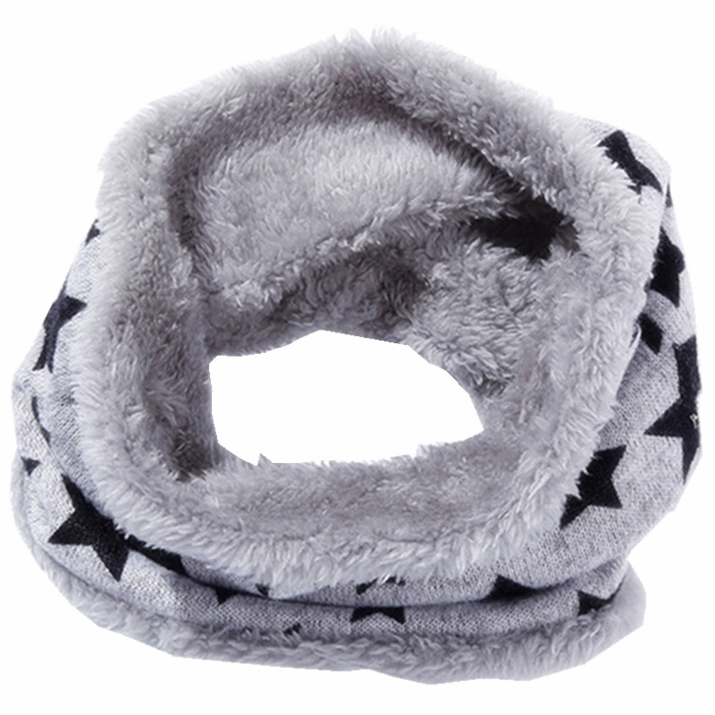 Autumn Winter Children Scarf Kids O-ring Scarves Knitted Plush Boys Girls Neck Collars Warm Kids Neckerchief Children Bufandas