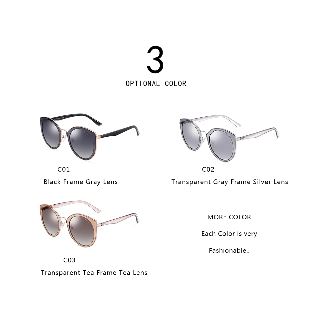 Image 3 - PARZIN Sunglasses Women Polarized lightweight TR90 Frame Brand Designer Coating Mirror Lens Women's Sunglasses Ladies With Case-in Women's Sunglasses from Apparel Accessories