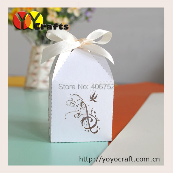 Unique Small White Music Note Laser Cut Paper Wedding Favor Box Bulk In Gift Bags Wring Supplies From Home Garden On Aliexpress Alibaba