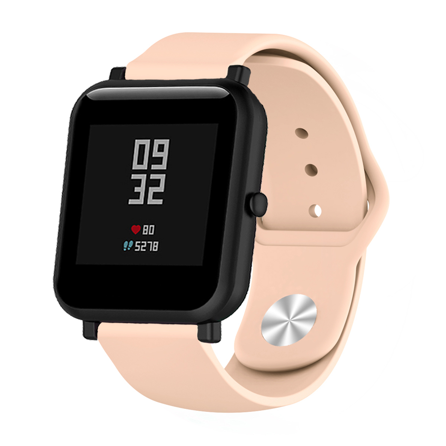 Image 5 - Silicone Soft Strap for Xiaomi Huami Amazfit Bip BIT Lite Youth Smart Watch Wrist Bracelet for Amazfit Bip Watchband 20mm Strap-in Smart Accessories from Consumer Electronics