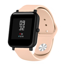 Silicone Soft Strap for Xiaomi Huami Amazfit Bip BIT Lite Youth Smart Watch Wrist Bracelet for Amazfit Bip Watchband 20mm Strap