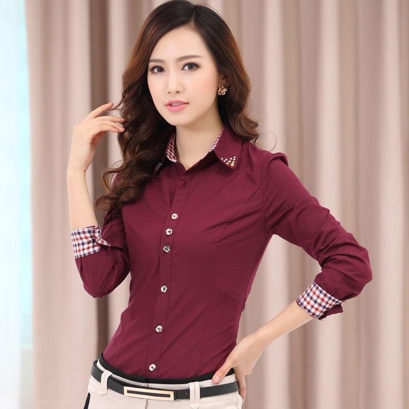 Online Shop Women Commuter Slim Waist Long-Sleeve Shirt Female ...