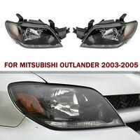 Autoleader 2Pcs Set Front Head Lamp Headlights Assembly Set ABS 12v Car Auto Headlights For MITSUBISHI