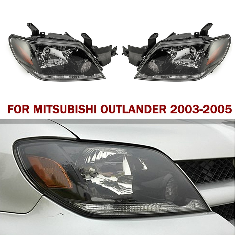 Autoleader 2Pcs/Set Front Head lamp Headlights Assembly Set ABS 12v Car Auto Headlights For MITSUBISHI Outlander 2003-2005