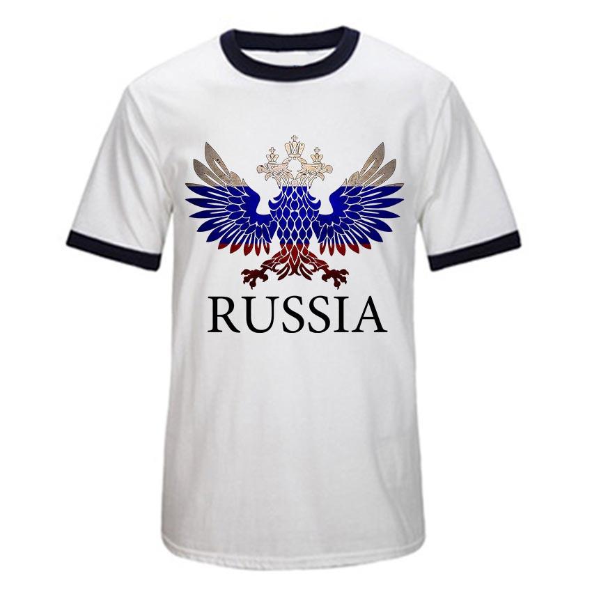 USAprint hombres camiseta algodón Rusia Logo imprimir Camiseta ...