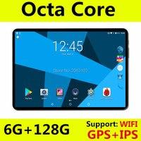 2019 новый 10 дюймов 3g 4 г LTE планшетный ПК Octa Core 6 ГБ оперативная память 64 Встроенная 1280*800 дюйм/сек, GPS 10,1 Планшеты Android 8,0 + подарки