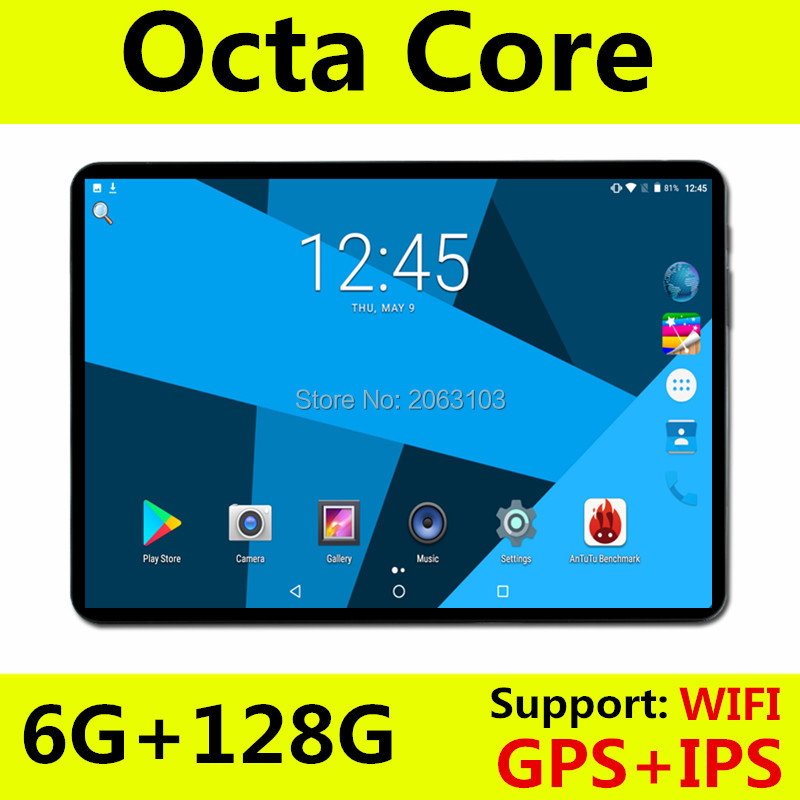 Super Fast 10 Inch Tablet Pc Octa Core Android 8.0 OS 6GB RAM 128GB ROM 1280X800 IPS Screen Tablets 10 10.1 Media Pad