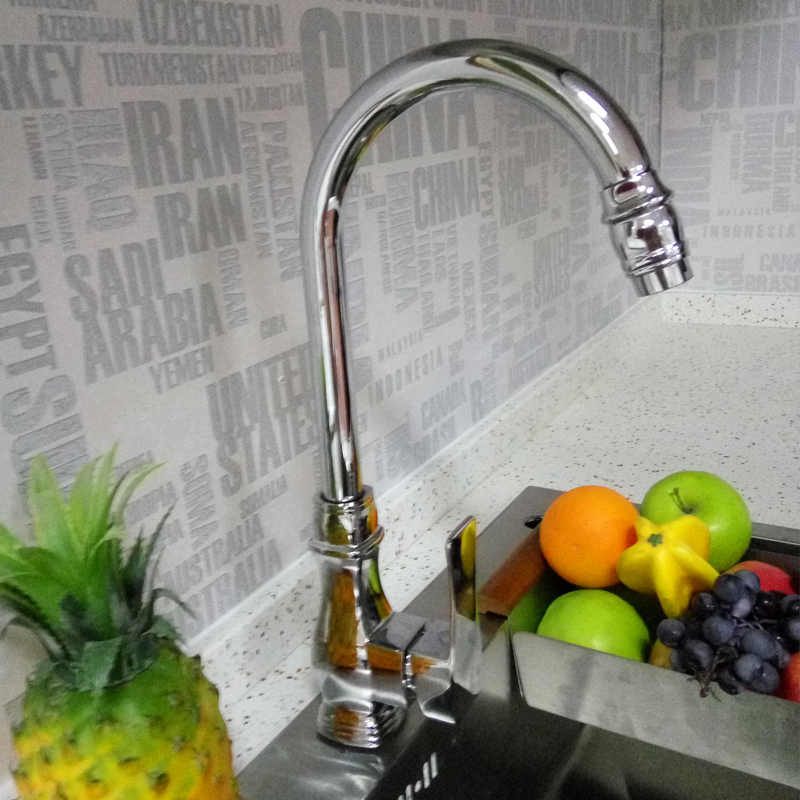 New Bathroom Bathtub Faucet Solid Brass Chrome Kitchen Basin Sink Mixer Tap High Quality