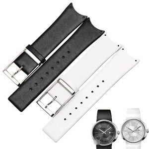 Кожаный ремешок для часов WENTULA, мягкие прочные ремешки для часов CK KOH231/K0H233/KOV231/KOH211, мужские и женские черные часы