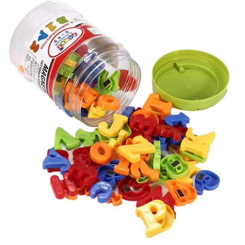 78Pcs műanyag színes mágneses hűtőszekrény mágnes ábécé betű szám gyermekek baba gyerek tanulás oktatási játék mágnes betűk  t