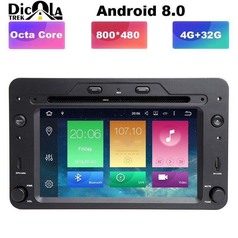 Android 8.0 un lecteur DVD de voiture Din 6.2 pouces pour Alfa/Romeo/Spider/Brera/159 Sportwagon CANBUS 4 GB RAM GPS Navigation Radio