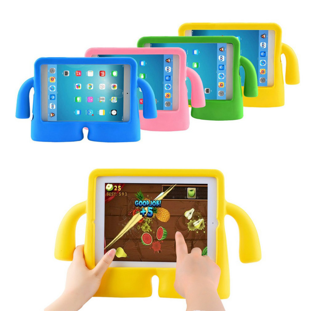 все цены на  9.7 inch EVA Kids Case Cover Thick Foam Shock Proof Soft Handle Stand Case For Apple For iPad 2 3 4 In stock!  онлайн