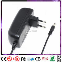 Free shipping 90cm cable 18v 1a power adapter 1000ma 18w dc adaptor EU input 100 240v