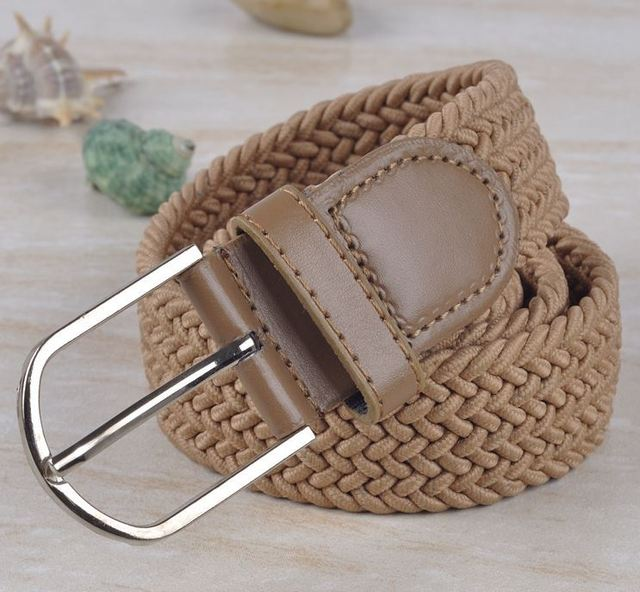 Free shipping hot sale braid hand-made weaving elastic belt braided belt unisex high quality factory direct