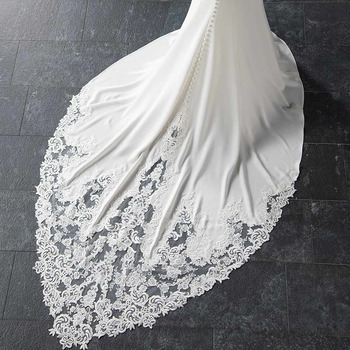 Eightale Mermaid Boho Wedding Dresses 2019 Sweetheart Appliques Lace Chiffon Wedding Gowns Backless Bride Dress vestido novia 5