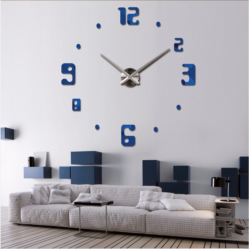 aliexpresscom buy 2017 new wall clock quartz watch reloj de pared modern design large decorative clocks europe acrylic stickers living room from reliable - Modern Designer Wall Clocks