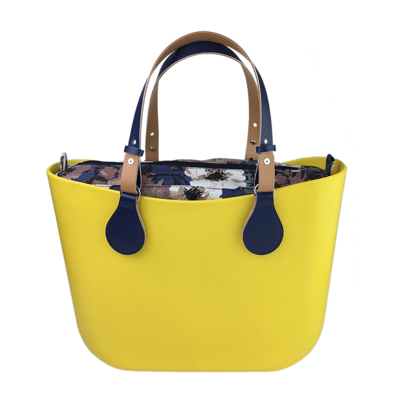 Żółty wodoodporny EVA duży rozmiar O torba w stylu obag luksusowe torebki kobiet torby krzemu torebka w Torby z uchwytem od Bagaże i torby na  Grupa 1