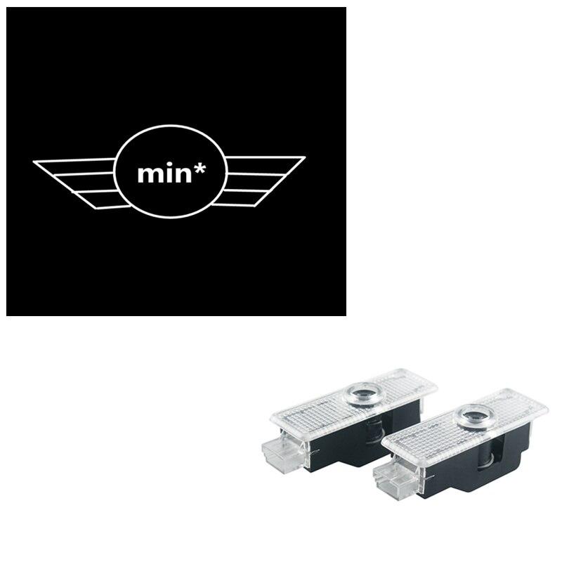4PCS Car mini door courtesy laser projector Logo Ghost Shadow Light For Mini R56 mini cooper R53 R56 R57 R58 R59 R60 R50