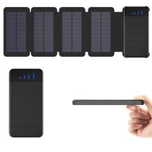 X-DRAGON 10000mAh Solar Power Bank Detachable Solar Battery Charger for iPhone 5s SE 6 6s iPhone 7 8 X Xr Xs max Samsung LG HTC. portable 2200mah power battery charger usb flashlight for iphone 5s ipod samsung htc black