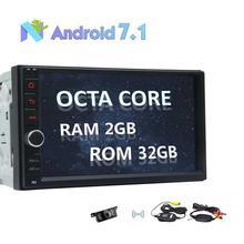 Octa Core 2 Din Android 7.1 Car Stereo Radio GPS Navigation no DVD Player WIFI Bluetooth OBD2 MirrorLink+Wireless Backup Camera