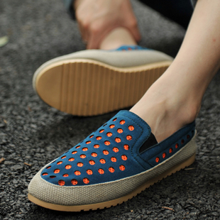 Summer lounged hole shoes breathable shoes fashion men's gommini fashion loafers casual shoes popular