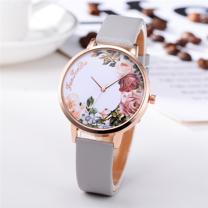 Fashion Womens Watch Girls Casual Flower Dial Leather Band Quartz Wrist Watches Female Clocks Montre Femme Relogio Feminino #D HTB1qUksi0cnBKNjSZR0q6AFqFXaN
