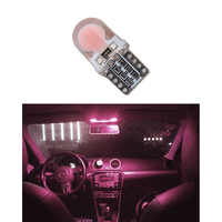 Bombilla LED de sílice para coche T10, luz de placa de matrícula lateral superbrillante, color rosa, rojo, 194, W5W, 168, COB, 8-SMD, DC12V