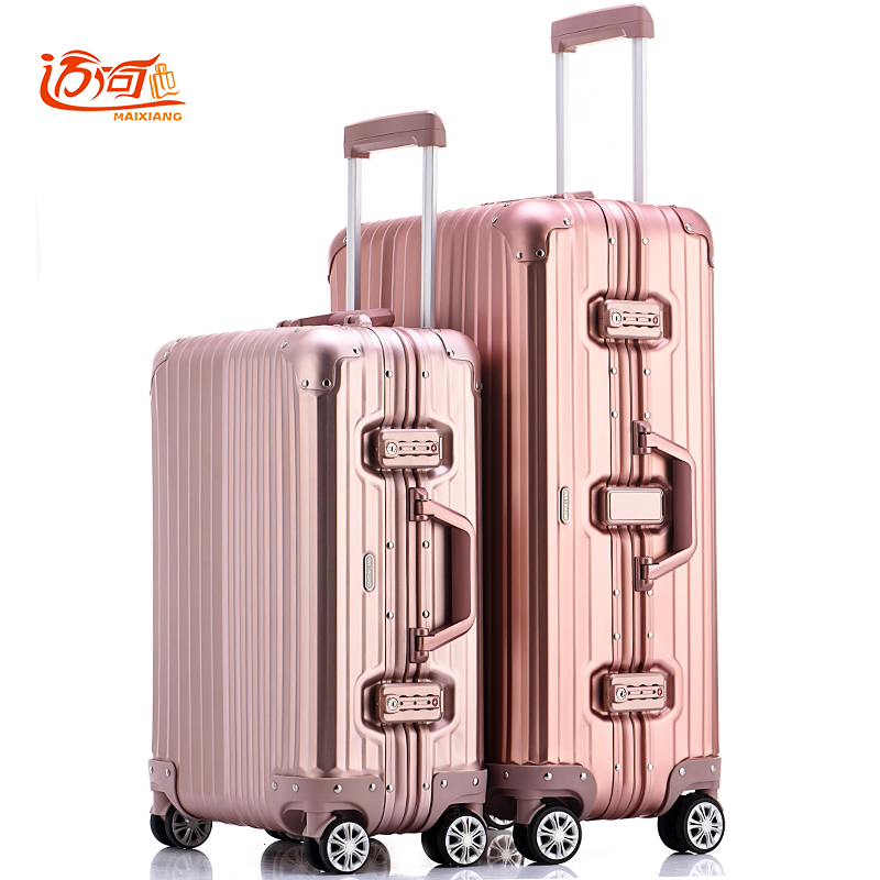 цена на 100% fully Aluminum-magnesium alloy travel luggage trolley 20/25 inch men suitcase water proof case