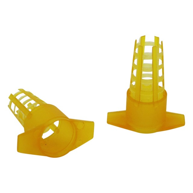 10 Pcs Beekeeping Tools Yellow Plastic Bee Queen Cage Protective Cover Cell Protector Cages Beekeeping Equipment