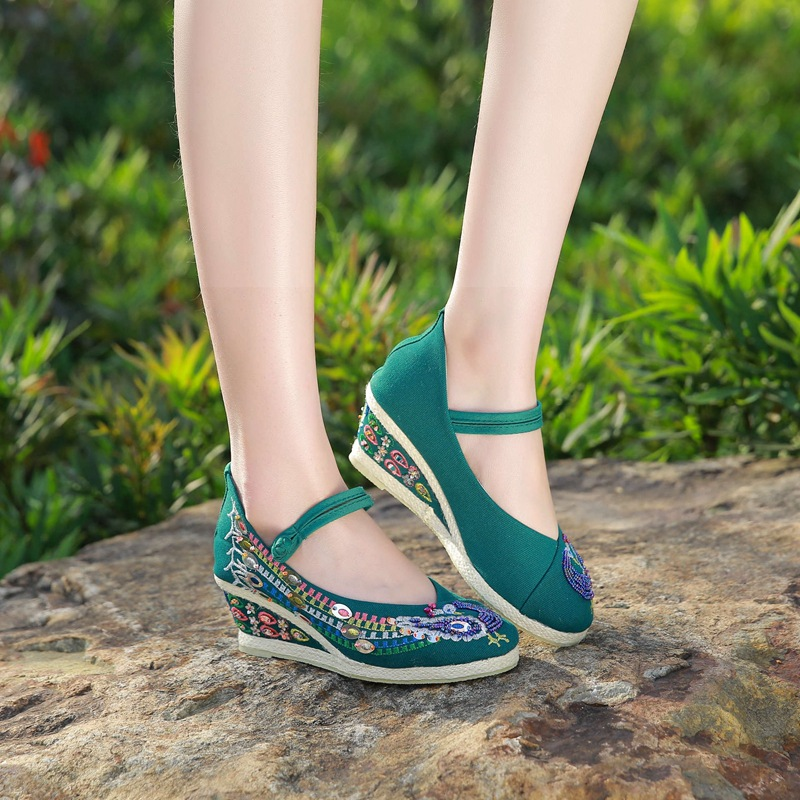 Pompes Espadrilles Lolita Toile Color3 Paillettes Photo Chaussures Color1 Pour Tenis Femmes Color2 photo Coins Cristal Femme photo Casual Nouveau Broderie pzMUVS