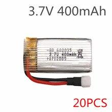 20 sztuk/partia H31 H107 X4 KY101 części zamienne 3.7V 400 mah oryginalna bateria H31-011 bateria Lipo 3.7V 400 mah dla H31 XH wtyczka 30C