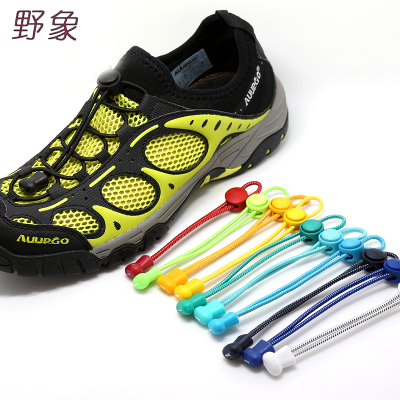 Madalaim hind No Tie Locking Shoe Laces Sneaker Lazy Elastne kingapael Luminous Shoe Lace Shoe Laces Lapsed