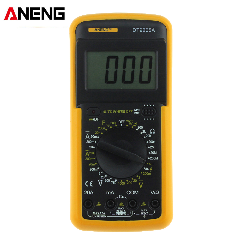 1999 counts Portable Digital Multimeter ACDC Voltage Current Resistance Capacitance Voltmeter Ammeter Multi Tester LCD Display